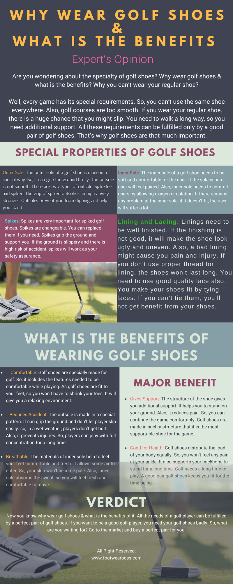 Why Wear Golf Shoes With Benefits